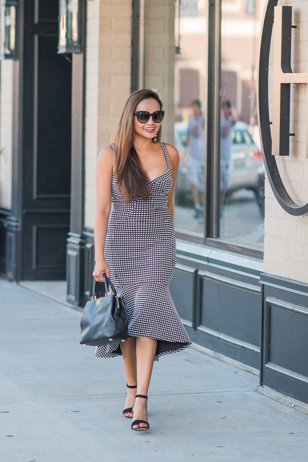 Classic Gingham Print Street Style Outfit Ideas Colors Of